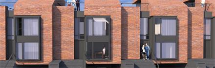 Dom szeregowy projekt architektoniczny
