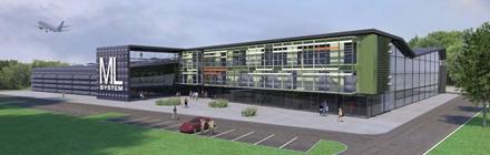 Projekt architektoniczny centrum badawczo-produkcyjnego ML System