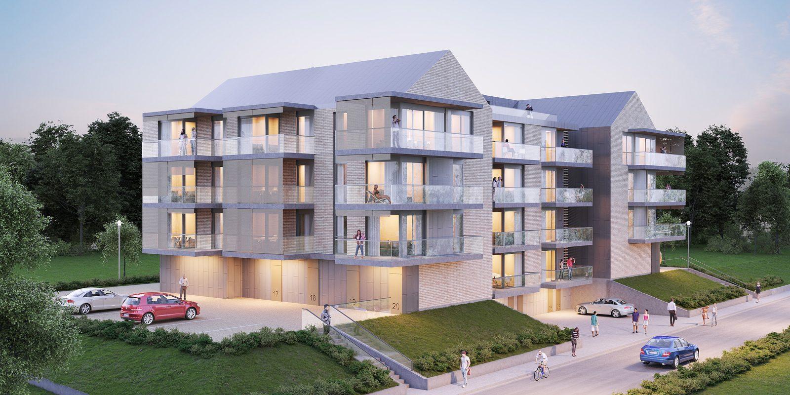 Projekt architektoniczny bloku mieszkalnego
