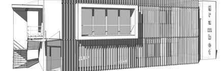 Architektoniczny projekt pawilonu handlowego
