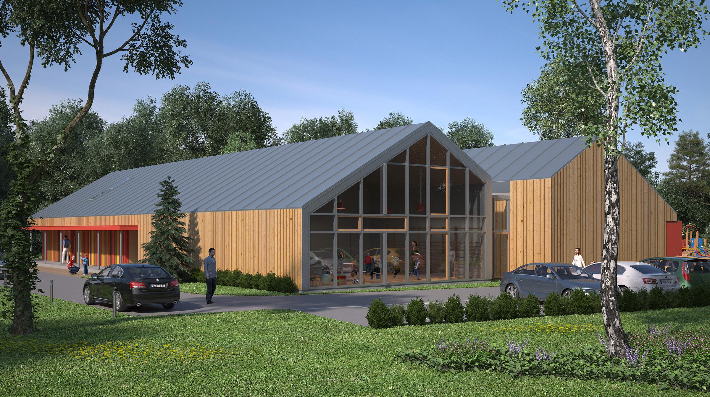 Projekt architektoniczny przedszkola